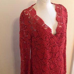 Diane von Furstenberg Flirty Red Lace Dress